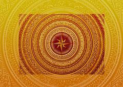 ROSA DEI VENTI (luca_rupi) Tags: orange yellow photoshop scanner drawing vector retouching multicolor sfumatura rosadeiventi madebyfiend silviacurumi estrusion