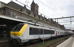 Maastricht, NMBS SNCB Class13 1353 Pilgrims Train (Nik Morris (van Leiden)) Tags: train maastricht ns rail railway loco trein pilgrims pelgrim nmbs sncb class1300