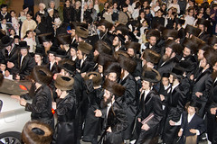 Welcoming the raby (Dan_lazar) Tags: holiday religious israel crowd welcome brak orthodox  sukot bnei hasidim  weman  raby          admor