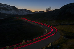 Departure... (bent inge) Tags: sunset norway october driving nightshot telemark nightdrive haukeli 2015 vinje haukelifjell norwegianmountains bentingeask