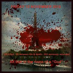 Blood in the city (Pifou 2010) Tags: paris france stadedefrance bataclan 2015 attentat ruedecharonne ruedelafontaineauroi pifou2010 grardbeaulieu 129morts 99entrelavielamort 253srieusementblesss vendredi13novembre bloodinthecity
