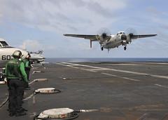 151104-N-NV908-093 (U.S. Pacific Fleet) Tags: greyhound plane cod flightdeck cvn71 usstheodoreroosevelt chadmtrudeau nv908