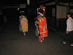 Encounter With Geishas (Aimless Alliterations) Tags: japan kyoto gion tradition geishas canonpowershota610