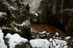 Snow Inside Burn o' Vat (steve_whitmarsh) Tags: snow ice water rock scotland rocks stream aberdeenshire cairngorms