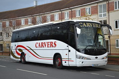 Carvers PO11HVU (Will Swain) Tags: city uk travel england west bus buses station coach december cheshire britain centre north transport chester vehicles vehicle seen 5th coaches carvers 2015 po11hvu