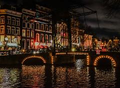 Staalstraat Bridge over a canal at Night - Amsterdam Netherlands (mbell1975) Tags: bridge holland water netherlands dutch amsterdam night river puente lights evening canal bur over ponte most pont nl bro brug brcke brig noordholland niederlande kpr staalstraat nederlanden niederland bouwwerk