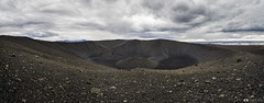 Hverfjall Crater Panorama (Fabio tomat) Tags: panorama clouds volcano iceland rocks panoramic crater myvatn vulcano cratere islanda tephra hverfell tuffring