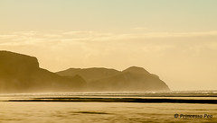 Sunset dusted by blowing sand (Princessa Pea) Tags: sunset newzealand 2010 farewellspit 6078