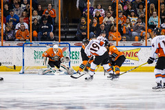 "Missouri Mavericks vs. Quad City Mallards, December 31, 2016, Silverstein Eye Centers Arena, Independence, Missouri.  Photo: John Howe / Howe Creative Photography • <a style=""font-size:0.8em;"" href=""http://www.flickr.com/photos/134016632@N02/31249487484/"" target=""_blank"">View on Flickr</a>"