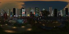 sl360@Ashemi, Azure Star (ErikoLeo) Tags: 360° panorama flickrlovers landscape firestorm secondlife