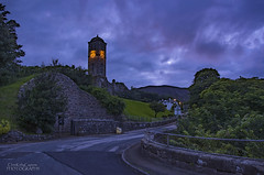 At first light in Helmsdale (ChrisKirbyCapturePhotography) Tags: helmsdale sutherland scotland highlands village scottishvillage warmemorial clocktower blue icehouse firstlight dawn