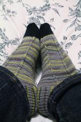 Jaywalker Socks (AluminumDryad) Tags: knitting socks handkit handmade craft sockyarn variegated toes feet heels jaywalker grumperina ravelry fo