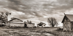 Abandoned to Time (A Anderson Photography, over 1.5 million views) Tags: ranch canon abandoned mono stormy cloudy