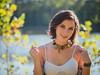 Splendor (Vincent F Tsai) Tags: portrait girl sun sunny outdoor nature natural light beautiful pretty smile necklace lake water park panasonic lumixg7 leicadgnocticron425mmf12