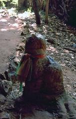 Phallic stalagmite, Pra Nang (SteveInLeighton's Photos) Tags: kodachrome transparency thailand 1999 january aonang krabi shrine railay phallus