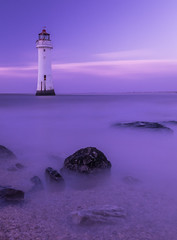 New Brighton Lighthouse. (dave.mcculley) Tags: newbrightonlighthouse water longexposure sky light rocks liverpool merseyside seaside