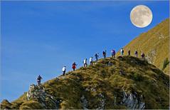 Moon hike... (Everest Daniel) Tags: moon hiking mountains switzerland gantrisch chasing fullmoon