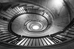 Supreme Court Spiral (2017 Rendering) (Geoff Livingston) Tags: stair case spiral eye supremecourt bw monochrome