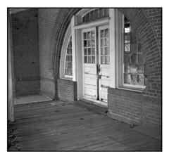 THE OLD TRAIN STATION MECHANICVILLE NY (Sergei Prischep) Tags: bolta photavit 828 schneiderkreuznach xenar5028 24x24 kentmere100 film d76 35mm