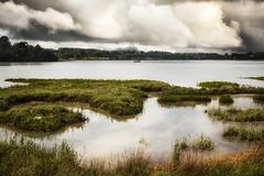 Rivière d'Auray (Stéphane Sélo) Tags: lebono paysage pentax pentaxk3ii bateau bretagne clouds landscape maison morbihan nuages océan port rivière sigma1750f28 été