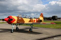36 Red / G-IUII Yakovlev Yak-52, RNAS Yeovilton, Somerset (Kev Slade Too) Tags: 36red giuii yakovlev yak52 egdy rnasyeovilton somerset