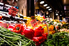 Eat your veggies! (Culinary Fool) Tags: vegetable december 16mm washington produce pepper 2016 seattle red colorful wa culinaryfool pikeplacemarket yellow cornerproduce dof brendajpederson farmersmarket fruit holiday downtown