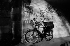 Don't Believe the Hype (pedalpusher139) Tags: graffiti underpass bike bicycle cycling carlisle vintage urban retro pashley