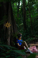 Taichi (bdrc) Tags: asdgraphy yagami taichi digimon jungle forest cosplay girl portrait kaori lala strobe godox bukit gasing nature park trees green outdoor sony a6000 sigma 30mm prime crossplay
