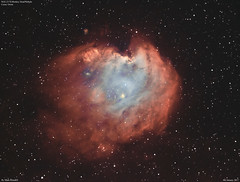 NGC2174_Bi-Colour_2017-1-4 (MarkLB57) Tags: ngc2174 meade6000115mmrefractor marklb57 astronomy astrophotography azeq6gt zwoasi1600mmcool zwoefwelectricfliterwheel nebula bicolour ha oiii orion monkeyhead