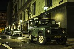 Defender (vdgallery) Tags: street night british cars car urban london uk england green jeep race classic dirt parking mud classiccar defender offroad landrover streetphotography nightphotography 4x4 urbanphotography racinggreen madrid nikon