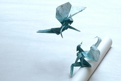 Where do you go to my lovely ? (De Rode Olifant) Tags: origami paperfolding paper 3d marjansmeijsters tutorial diagrams noa noamagazine202 yoshihisakimura fairy wheredoyougotomylovely petersarstedt