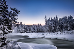 Cold river and the blue sky (Stockografie) Tags: fujifilm longexposure sweden waterfall xt10 xtrans xc1650ii