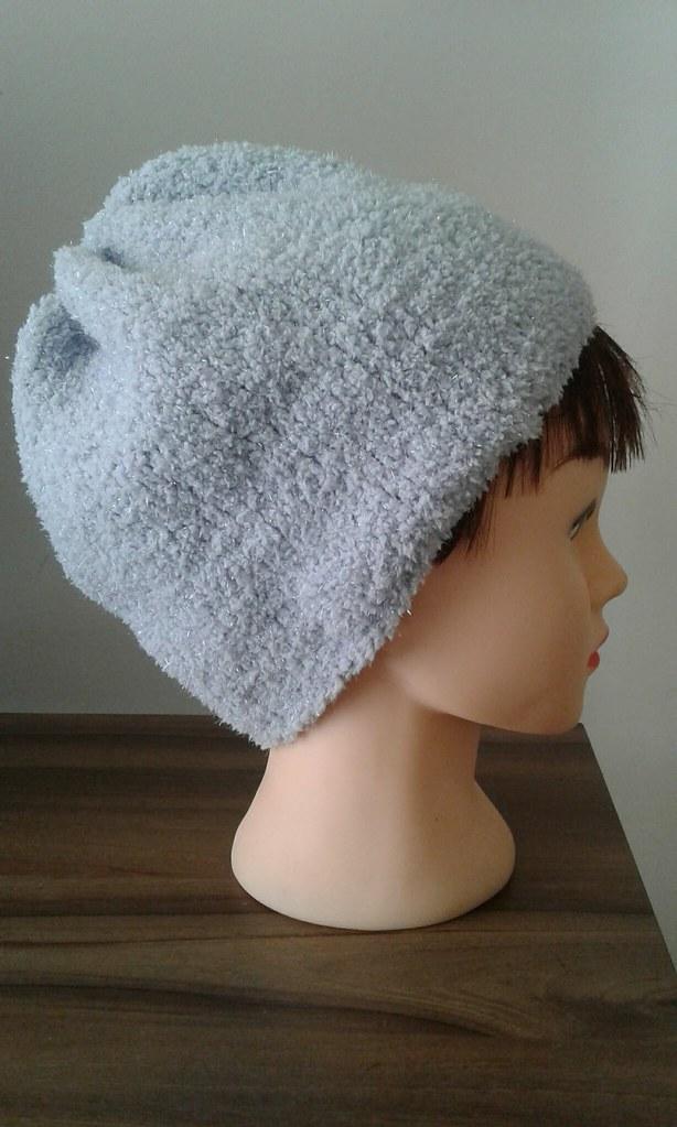 948d33b9918 Touca folgada (litasky) Tags  trico tricot touca gorro cisne love cinza  gray knit ·