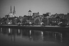 Regensburg (mripp) Tags: regensburg ratisbonne spendenskandal spenden skandal bavaria bayern germany deutschland black white mono monochrom night nacht art kunst leica m9 summilux 50mm f 14