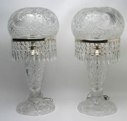 Pair of Crystal Table Lamps w/Glass Prisms ($297.00)