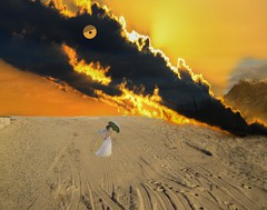 The Lady Keeps Her Cool Even When the Cloud Dragon Attacks (Rusty Russ) Tags: cloud dragon lady umbrella beach sand fire sky eye photoshop flickr google bing daum yahoo image stumbleupon facebook getty national geographic magazine creative creativity montage composite manipulation color hue saturation flickrhivemind pinterest reddit flickriver t pixelpeeper blog blogs openuniversity flic twitter alpilo commons wiki wikimedia worldskills oceannetworks ilri comflight newsroom fiveprime photoscape winners all people young photographers paysage artistic