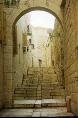 alcoves. (jhdahl29) Tags: 35mm film israel alley alcove jerusalem