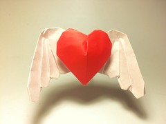 Angel Heart (PaperPh2) Tags: origami wing heart angel paperph2 wingheart angelheart valentine love paperfolding