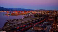 Port Metro Vancouver at Sunset (david byng) Tags: helijet vancouver 2017 winter pacificocean city canada britishcolumbia sunset