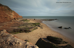 Rodney bay, Exmouth (Daryl 1988) Tags: orcombe headland sea ocean coast water waterscape landscape sand beach bay clouds rocks exmouth devon uk nikon d2xs spring 2017 jurassic coastline sky eastdevon leefilters lee superstopper nationaltrust