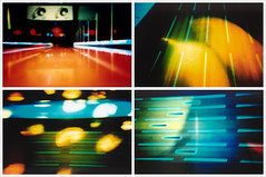 Four Lanes (Soda Press) Tags: film 35mm virginia lomo lca xpro crossprocessed neon fuji richmond crossprocessing bowling provia rva recomposition tetraptych