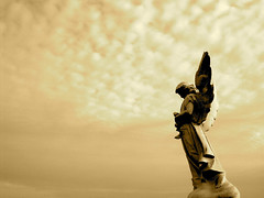 sepiaangel.JPG (crowolf) Tags: cemetery angel monument statue stone holyredeemer baltimore maryland photoshop manipulation sepia wow top20cemeteryshots gorgeous amazing topv111 topv333 250v10f top20halloffame