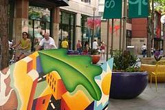 16th Street Mall (cemcgee) Tags: bench bikes denver lodo 16thstreetmall