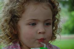 refreshment (annsorrellswicke) Tags: toddler curls juicebox straws