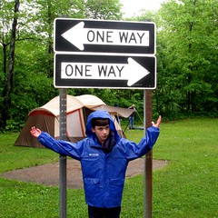 Funny sign (blmiers2) Tags: trees boy signs newyork green grass fun other funny humorous humor tent views faves oneway funnysign blm18 blmiers2