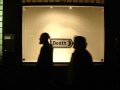 Death > (Herschell Hershey) Tags: road london art sign death cross muerte charing roadsign conceptual