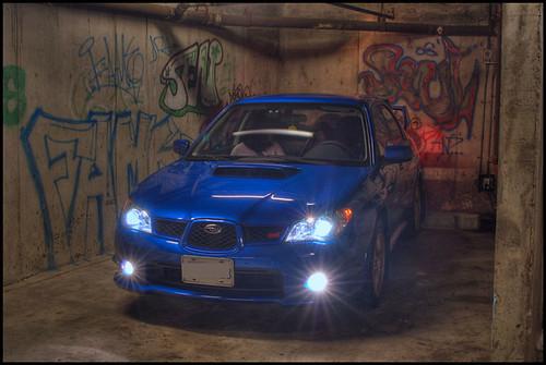 STI Underground Graffiti with headlights