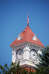 Corvallis Clock Tower (lawatha) Tags: tower clock oregon or flag clocktower corvallis