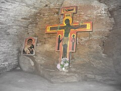 Christ icon in Taizé