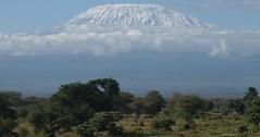 Mt. Kilimanjaro (RevMike88) Tags: africa mountain snow clouds kenya mountkilimanjaro afrika loitoktok